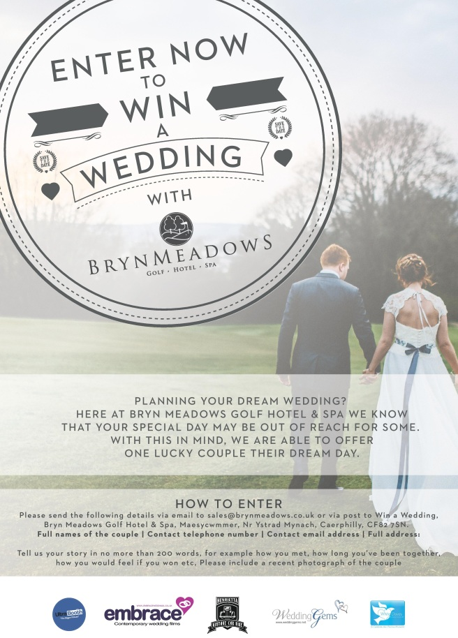 Win a wedding at bryn meadows bryn meadows golf hotel spa win a wedding posterg junglespirit Images